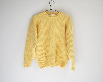70s Cable Knit Wool Sweater