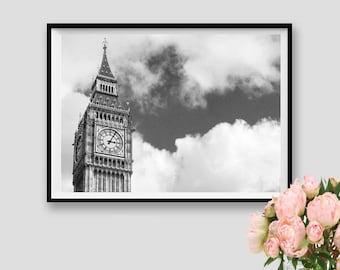 Decor London Photography Print London Instant Download Wall Art Printable London Big Ben Print Panorama London