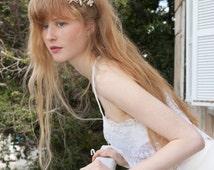 Bridal Headpiece, Statement hair accessory, Bohemian Hair Piece, Rose gold hair comb, Bridal Crown, Boho wedding halo, Wedding headpiece