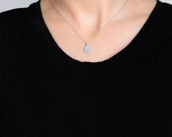 Silver Zodiac necklace - star sign disc pendant - choose your symbol