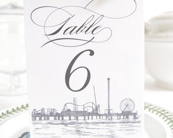Galveston Skyline Table Numbers (1-10)