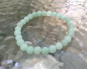 Unisex Matte Green Aventurine Bracelet ~ Healing properties ~ Protection for traveling