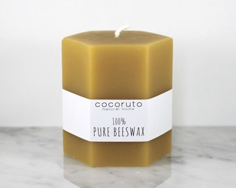 Beeswax Hex Candle