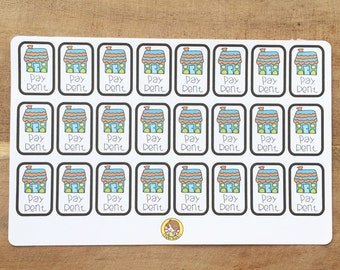 Pay Rent Planner Stickers