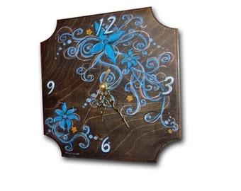 ON SALE ! Clock, handmade unique clock, wood wall clock