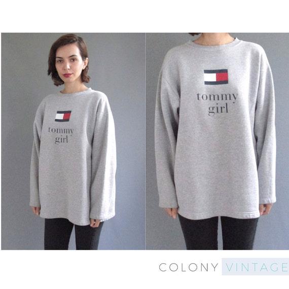vintage grey tommy girl tommy hilfiger sweatshirt large. Black Bedroom Furniture Sets. Home Design Ideas