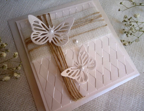 Burlap Wedding Invitations Diy: Butterfly Wedding Invitations Burlap Wedding Invitations DIY