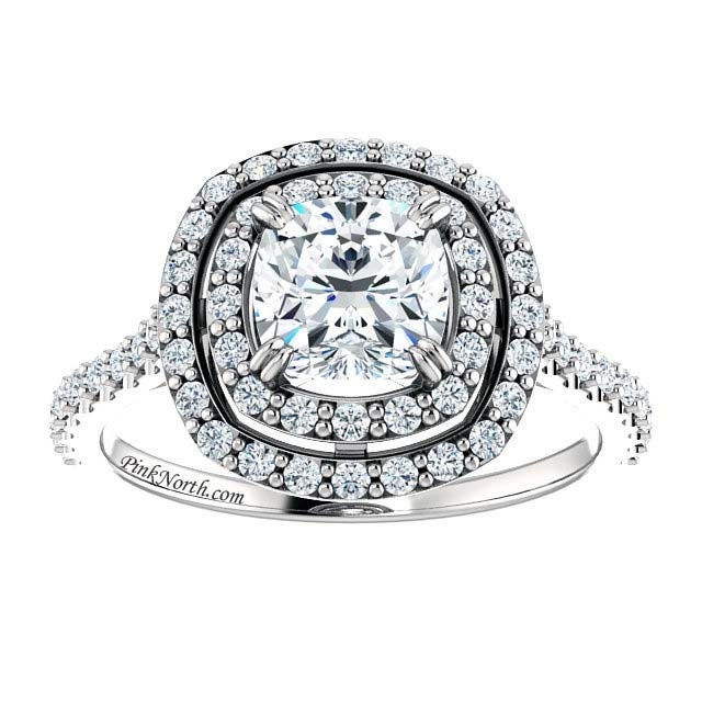Best Of Cushion Cut Engagement Rings No Halo