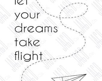 "Let Your Dreams Take Flight Poster Print (11""x14"")"