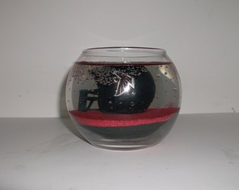 Custom Hand-Made Atlanta Falcons Strawberry Scented Gel Candle