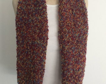 Knit Multi-Color Scarf - FREE U.S. SHIPPING