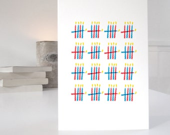 80th Birthday Card, minimalist design with 80 candles