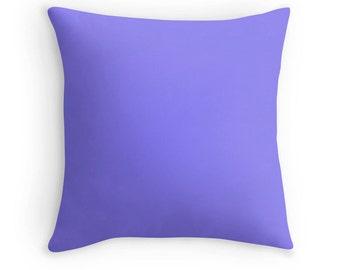 Periwinkle Pillow, Periwinkle Throw Pillow, Periwinkle Bedding, Periwinkle Toss Pillow, Periwinkle Pillow Case, Periwinkle Pillow Cover