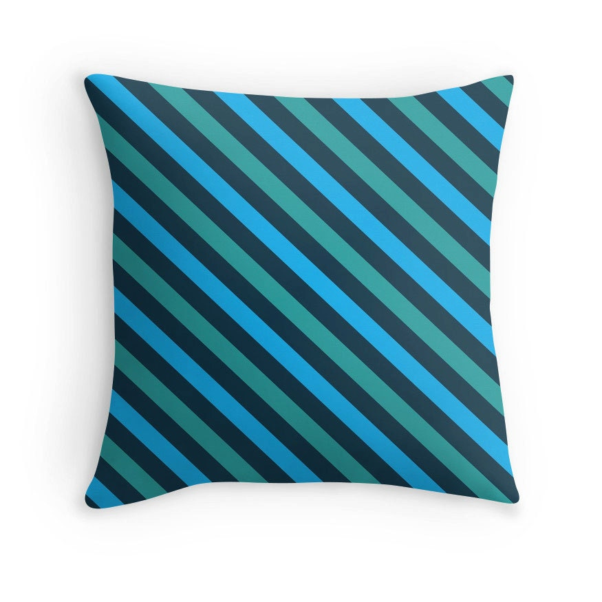 Decorative Pillows With Teal : Teal Pillow Teal Decorative Pillow Teal Abstract Pillow