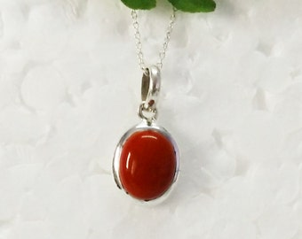 Attractive RED CORAL Gemstone Pendant, Birthstone Pendant, 925 Sterling Silver Pendant, Fashion Handmade Pendant, Free Chain, Gift Pendant