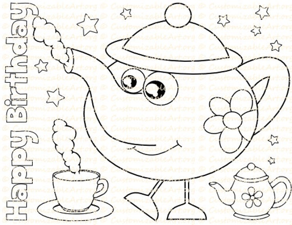 i am a little teapot coloring pages - photo #25