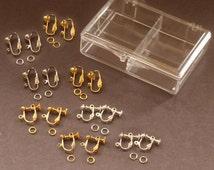 """EARRING Converter Kit for """" Non Pierced """" Ears Clip and Screw Earrings"""