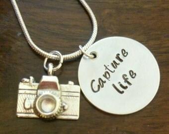 Capture life camera necklace