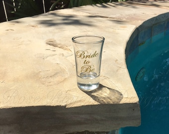 Bride to Be Wedding Shot Glass