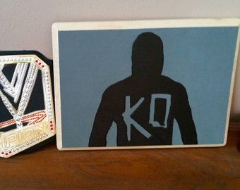 SALE 50% OFF - Kevin Owens Image Burned onto 8.5x11.5 Wooden Plaque - Gift - Dorm - Decoration - Art - Wrestling