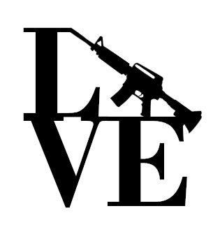 Gun Love Decal/I Love Guns/Love Guns Decal/Machine Gun ...