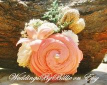 Wedding Corsage, Mother Corsage, Prom Corsage, Sola Flower Corsage, Mother's Corsage, Wedding Flowers, Pink Corsage, Keepsake Corsage, Sola