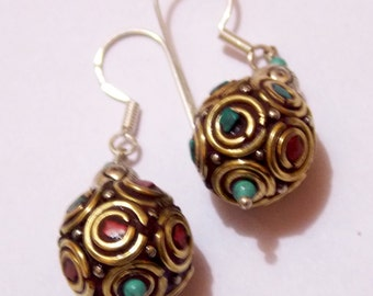 Rajasthani brass earrings