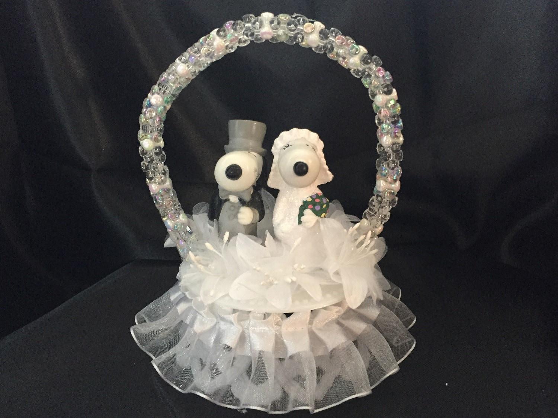 Snoopy Wedding Cake Topper