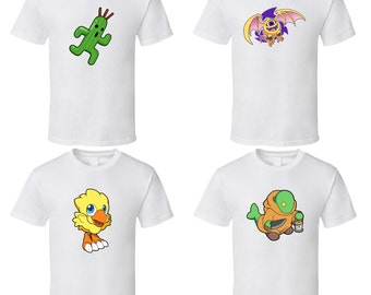 Final Fantasy Mascots - Choose a Character - Cute White T-Shirt