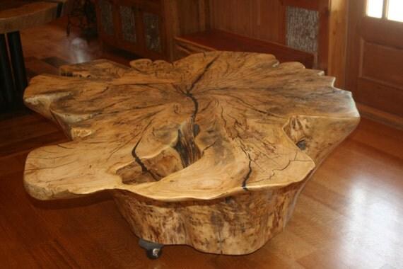 Permalink to make a wood slab coffee table