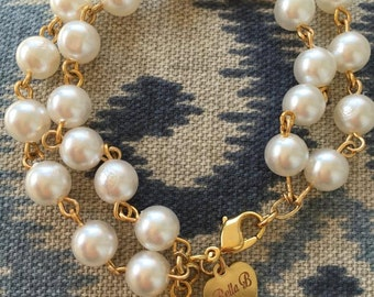 Charming  charm bracelet with Crystal clear charm