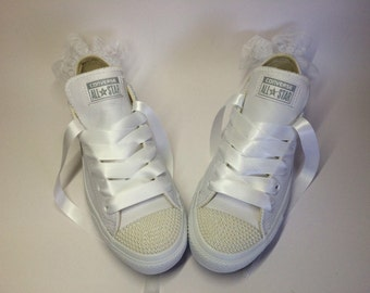 Pearl leather Wedding edition Converse