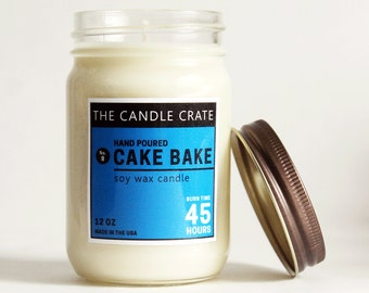 Cake Bake 12 Ounce Soy Wax Container Candle