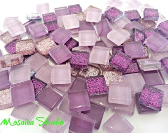 Mini Crystal Tiles 10x10mm - Purplelicious mix 400pc
