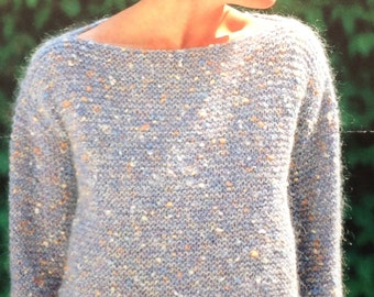 Knitting Patterns Easy Jumpers : Garter stitch Etsy