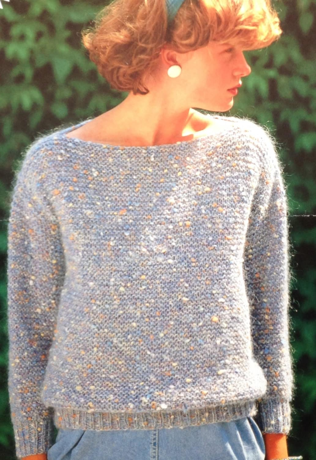 Knitting Pattern Jumper Ladies : Easy Garter Stitch Knitting Pattern Girls/Ladies/Womens