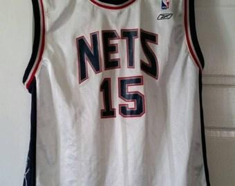 Vintage Boys New Jersey Nets Vince Carter Jersey. By Reebok, sz Large.
