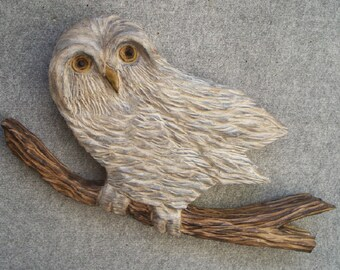 Boreal Owl Wall Sculpture