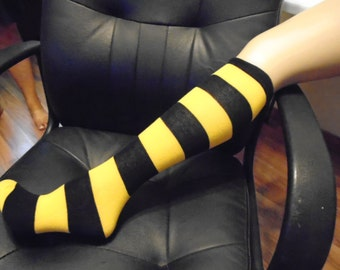 Pittsburgh Steelers colors Kneehigh Throwback black and gold socks Youth or Womens