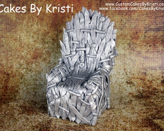 Game of Thrones Iron Throne Fondant Cake Topper (MADE TO ORDER)