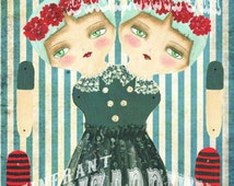 Leah & Norah, Conjoined Twins Articulated Paper Doll