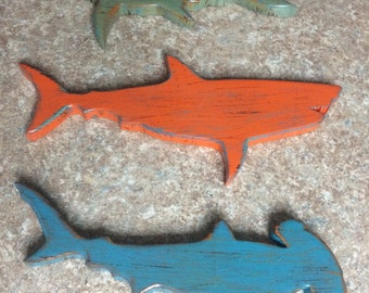 Wooden Sharks (Set of 3)