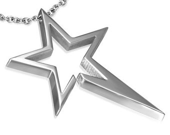 Stainless Steel Shooting Star Pendant with Chain
