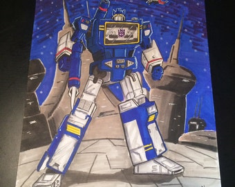 Soundwave 9x12 signed origonal.