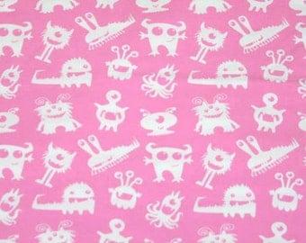 Knit Bubblegum Monsters Fabric 1/2 yard
