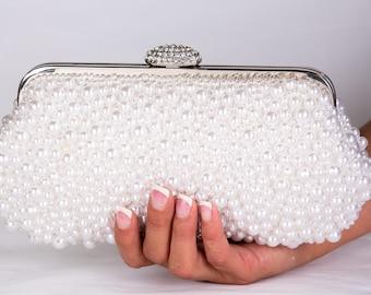 Pearl Clutch Bag, Evening Clutch, Bridal Clutch Bag, Custom Wedding Accessories c61