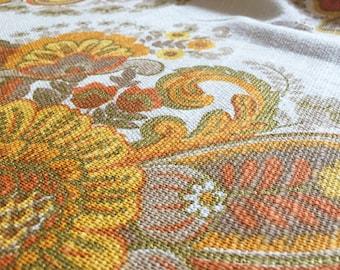 Vintage fabric orange blossom 50 x 120cm