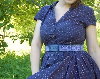 Woman's waist belt, Blue belt, Hand beaded leather belt. Loom beaded leather belt. Blue leather belt. Gift for her.