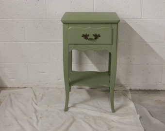 Vintage French Provincial Night Stand,, Paris Apartment Night Table, French Night Table