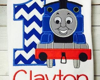 Thomas the Train Birthday Shirt / Personalized / 1-9 / Boys / Girls